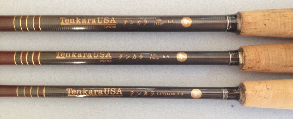 "Iwana Rod Handles - 12', 11' and 9'3"" from top to bottom"